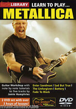 Lick Library Learn To Play Metallica tutor Enter Sandman Rock lección Guitarra Dvd