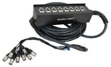 NEW 8 Ch Cable Snake.32' ft.Eight Channel.PA System.DJ Gear.Wire Cords Input.