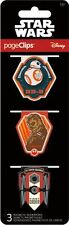 STAR WARS - FORCE AWAKENS - MAGNETIC PAGE CLIPS - BRAND NEW - BOOK BOOKMARK 4613
