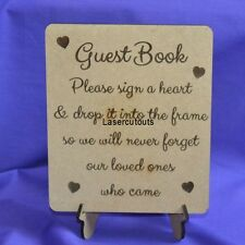 Wedding Drop Box Guest Book Sign ONLY, MDF, with stand