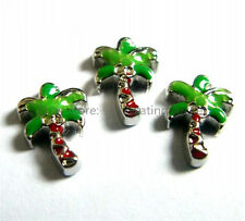 10pcs PALM TREE Floating charms For Glass living memory Locket FC0653