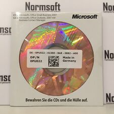 MS MICROSOFT OFFICE 2007 SBE SMALL BUSINESS VOLLVERSION MIT DATENTRÄGER CD DVD