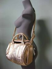 Alexander Wang Rose Gold Pebbled Lambskin Polisehd Studded Rockie Duffle Bag