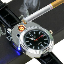 Novelty Wristwatch USB Rechargeable Flameless Cigarette table Lighter Watch