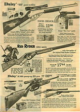 1974 PAPER AD Gun Rifle Daisy Scope Daisy Red Ryder M/880 BB Air Six Old West
