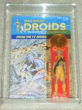 Vintage Star Wars 1985 AFA 90/90/90 KEZ-IBAN DROIDS Kenner Card Back MOC UNPUNCH