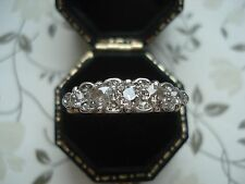 Exquisite Antique Art Nouveau;Sparkling 1 CT Diamonds Platinum & 18CT Gold Ring
