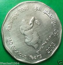 India 2 rupees 2003 BHOLU THE GUARD Indian Railway commemorative coin