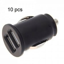 black Dual USB car charger for iPhone 6s 6splus 6 6plus 5 5c 4 2x1A ports 10 pcs