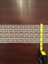 4 inch Decorative White Lace Trim (10 Yards)