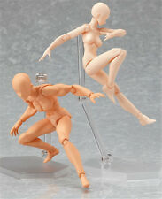 Japan Art Figma Action Figure Doll He & She Flesh Color Version 2pcs New In Box