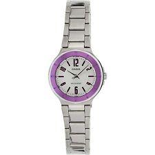 Casio LTP1367D-6A Ladies Silver Dial Metallic Stainless Steel Dress Watch Pink