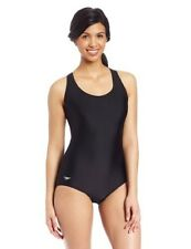Speedo Women's Aquatic Xtra Life Lycra Moderate Ultraback Swimsuit (Black 16L)