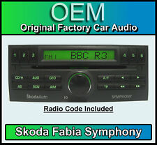 Skoda Fabia car stereo, Skoda Symphony CD player with radio code