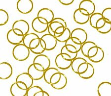 Open Very Thin Jump Rings 24 Grams 245pc Gold-plated Brass 10mm Round 21 Gauge