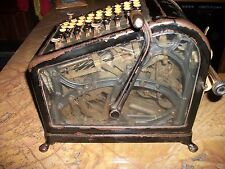 Antique Burroughs No. 4 Adding Machine. Beveled Glass Sides -  works