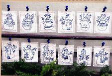 PATTERN - Snowmen by the Dozen - stitchery PATTERN - Bird Brain designs