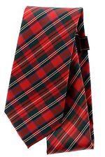 $59 Tasso Elba Luxury Tartan 2 Plaid Green Red Polyester Silk Blend Neck Tie