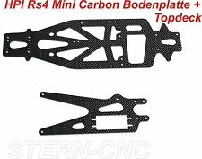 HPI RS4 mini Carbon HD Tuning Set 1:10 Oberdeck Bodenplatte Top !