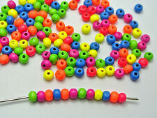 500 Mixed Neon Color Round Wood beads 6mm Wooden Beads