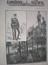 The Austro-Hungarian army Hungary Infantry Jager & Hussars 1888 old print