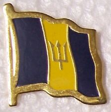 Hat Lapel Pin Tie Tac Push Flag of Barbados NEW
