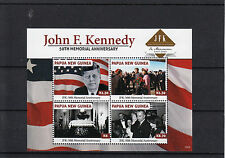 Papua New Guinea 2013 MNH John F Kennedy 50th Memorial Anniversary 4v Sheet JFK