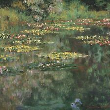 """38""""x36"""" WATER LILY POND by CLAUDE MONET MASTERS Repro CANVAS"""