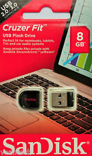 Sandisk Cruzer Fit 8GB USB Flash Drive 8GB USB Stick SDCZ33-008G-B35 NEU&OVP