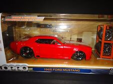Jada Ford Mustang 1965 Red with white stripe LoPro 1/24