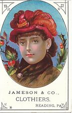 Vintage Reading, Pa. Victorian Trading Card:  Jameson & Co. Clothiers
