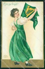 St Patrick Day Clapsaddle Relief postcard cartolina QT5904