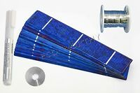 40pcs 1x6 Solar Cells Full Kit with Tabbing Wire Bus Wire Flux DIY Solar Panel
