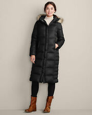 Eddie Bauer 2014 Women's Down Duffle Parka Black Size PS Petite Small