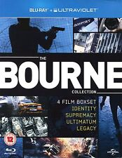 THE COMPLETE BOURNE 4-MOVIE COLLECTION REGION-FREE BLU-RAY DISC BOX SET NO-UV