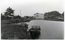 Buxton Mills Nr Aylsham river Bure unused RP old postcard by Norvic Mill