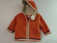 Boy's Old Navy Orange Fleece Full Zip Hoodie Jacket, Sz 3-6 Months