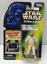 Star Wars POTF Freeze Frame Admiral Ackbar Kenner 1997 Action Figure NIP