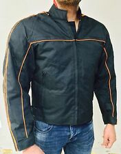Mens Riding biker textile motorcycle jacket With Removable Armour & Vented
