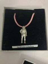 Commercial Diver PP-U05 Pewter Pendant on a PINK CORD Necklace