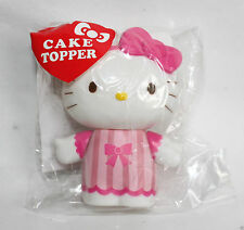 "SANRIO Hello Kitty Cake Topper 3"" inch Pink Ribbon Cupcake Baking New Sealed"