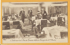 SS Ile de France Postcard - 2nd Class Dining Room - CGT - French Line