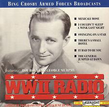 BING CROSBY - WWII RADIO 1943 + 1944 MARCH/JUNE (1994 JAZZ/POP CD)
