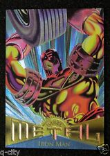"IRON MAN Promo Card _ 1995 Marvel METAL ""The Dawn of the Metal Age"""