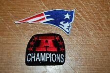 "New England Patriots Large 4 3/4"" Logo Patch & AFC Champions Patch Football"