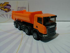 "Herpa 306386 # Scania R Rundmulden-LKW 4-Achs Baujahr 2006 in "" orange "" 1:87"