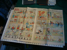 one page of comics MARCH 12, 1933, DICK TRACY, BUMPS, MOON MULLINS ETC