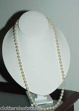 "Antique 7mm Pearl Necklace 18K Gold Clasp 23"" Orient"