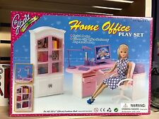 GLORIA DOLLHOUSE FURNITURE Home Office PLAYSET FOR BARBIE Fashion Royalty