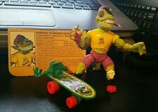 TMNT Mondo Gecko Complete green knee pad variant weapons file card FREE SHIPPING